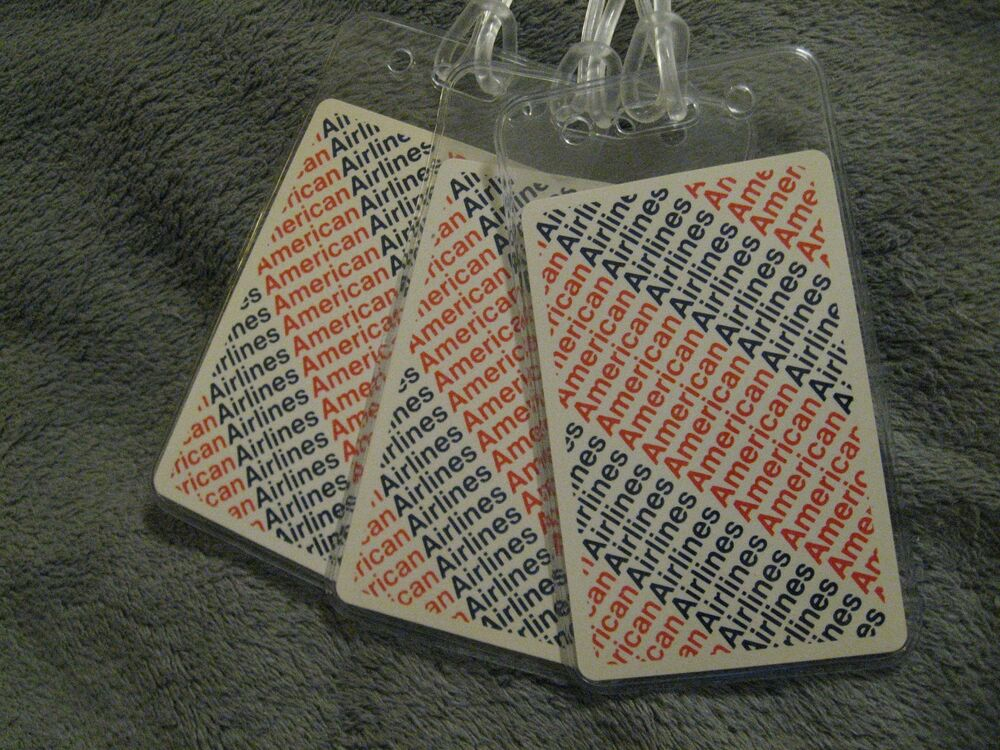 American Airlines Usa Vintage Red White Blue Playing Card