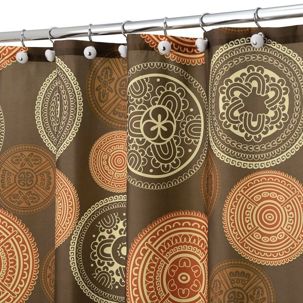 Burnt Orange Sheer Curtains Diva Shower Curtain Set