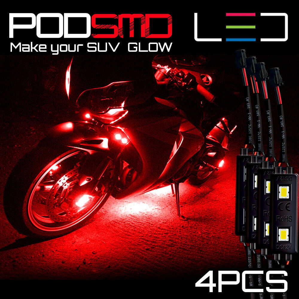 Led Motorcycle Accent Engine Ground Wheel Light Kit For