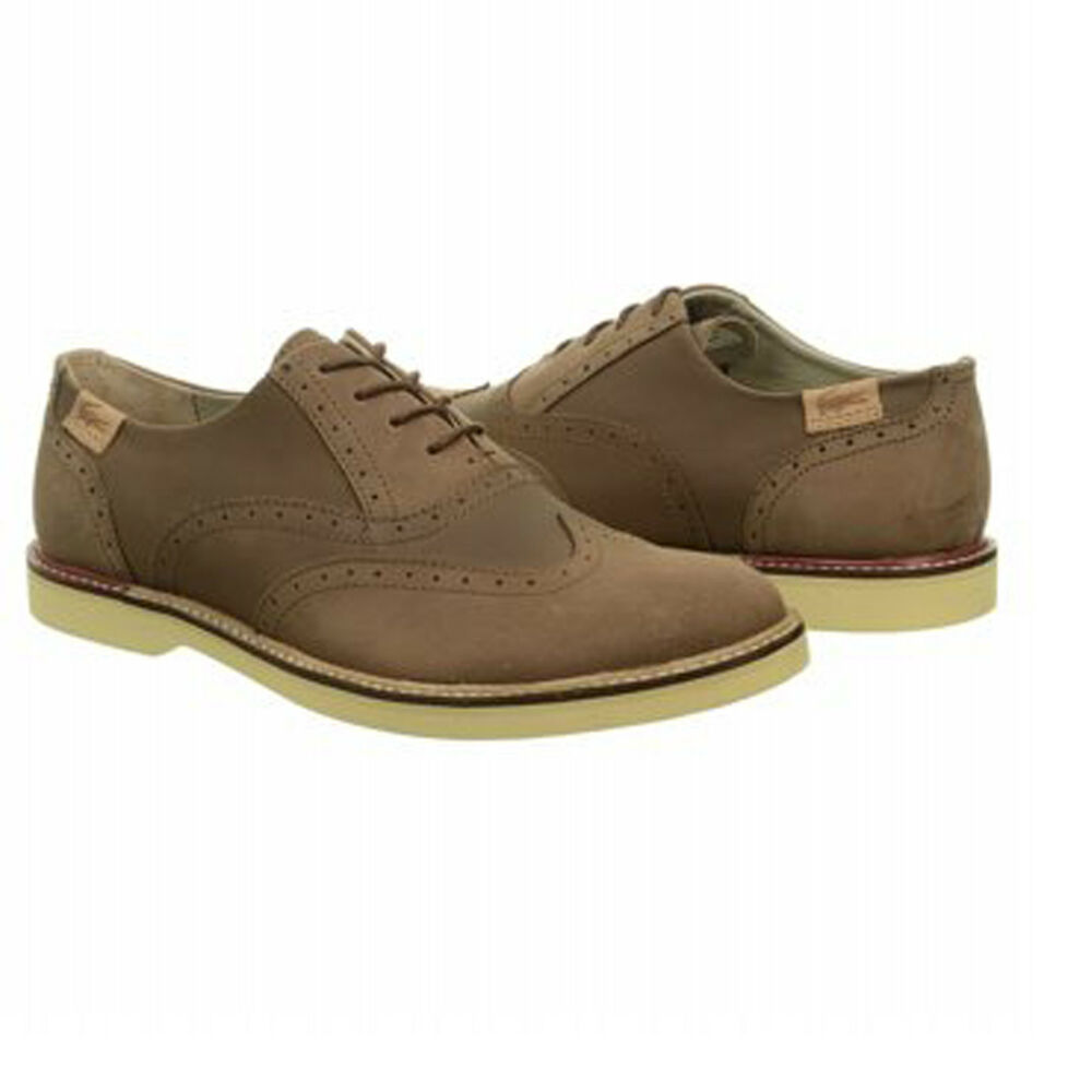 lacoste mens sherbrooke brogue 2 srm brown casual lace up