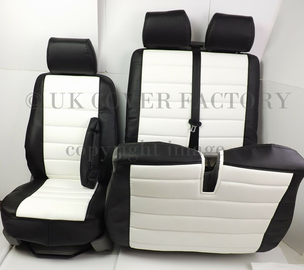 New Ford Transit Custom Van Seat Covers White Quilted
