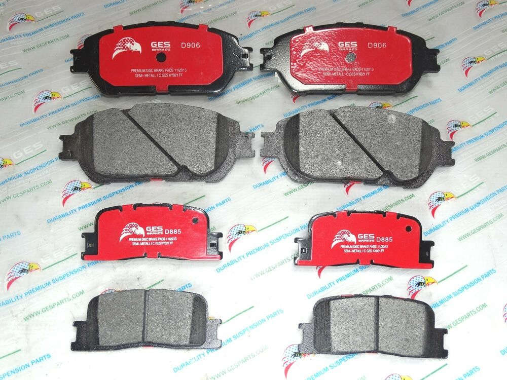 2 sets front rear brake pads toyota camry lexus es330 es300 d885 d906 ebay. Black Bedroom Furniture Sets. Home Design Ideas
