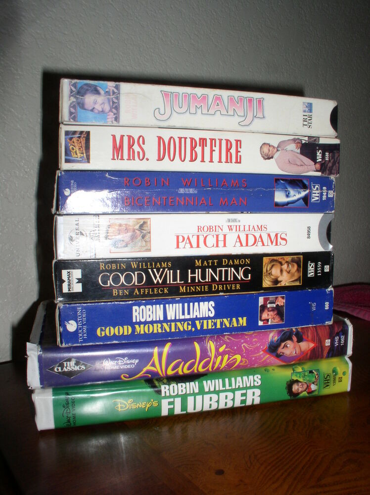 8 robin williams vhs movies patch adams  mrs  dountfire