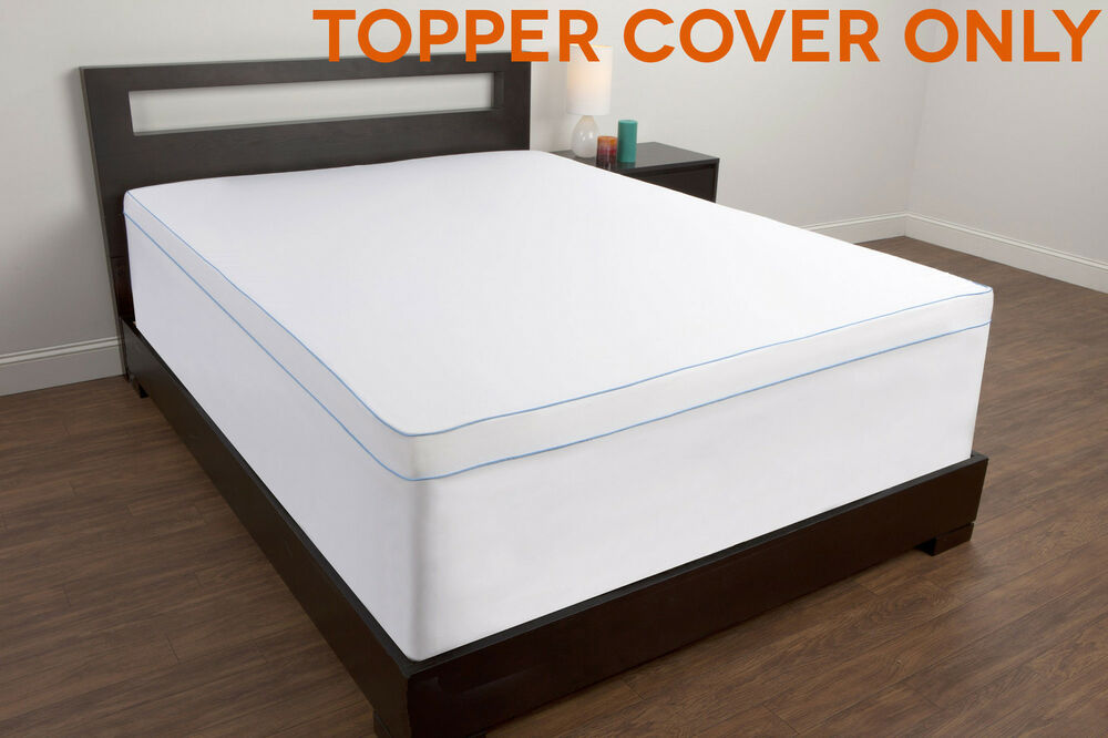 Topper cover for memory foam mattress twin full queen king size bed pad matress ebay Memory foam mattress king size sale