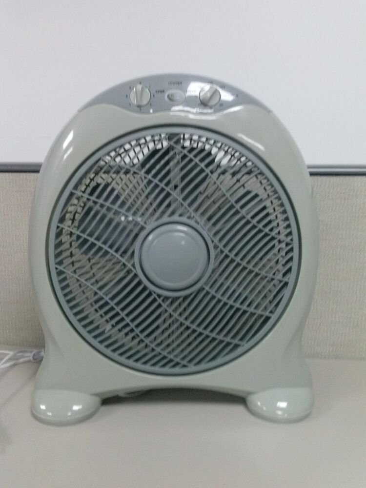 12 round top box fan 3 speed control with 60 min timer ebay for 16 inch window box fan