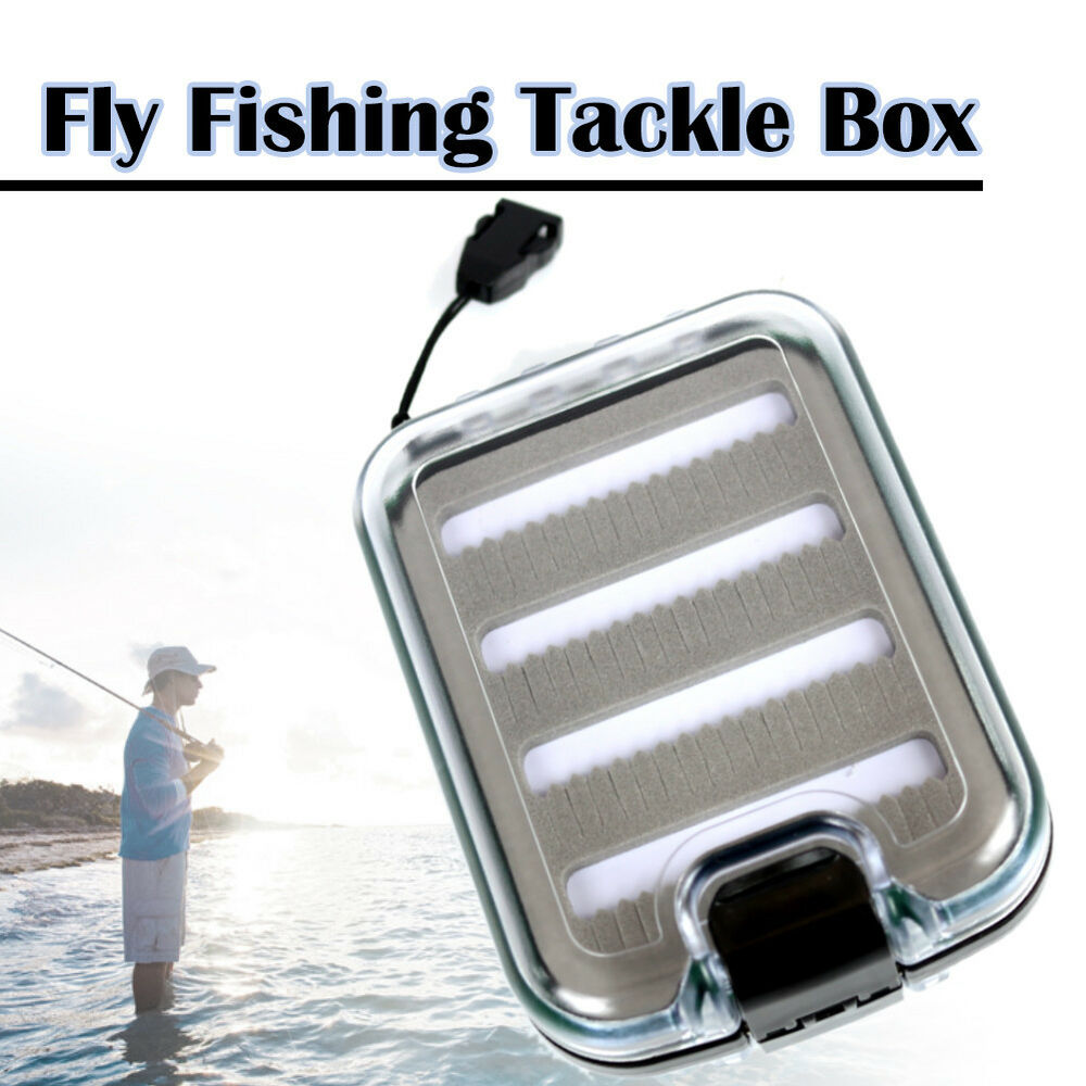 Elixir fishing waterproof double sided ice fly fishing for Ice fishing tackle box