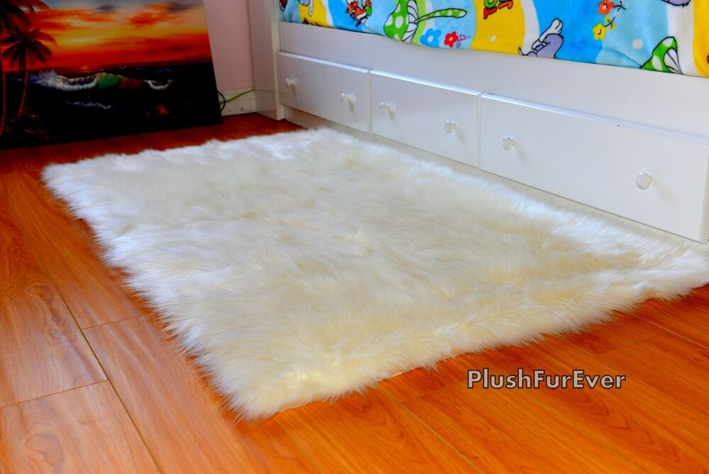 3 X 5 Faux Fur Rug Throw Area Rug Flokati Shaggy Rug
