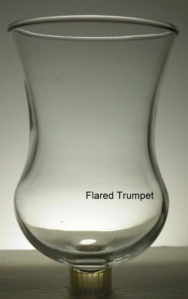 Home Interiors Tall Flared Trumpet Clear Votive Cup W