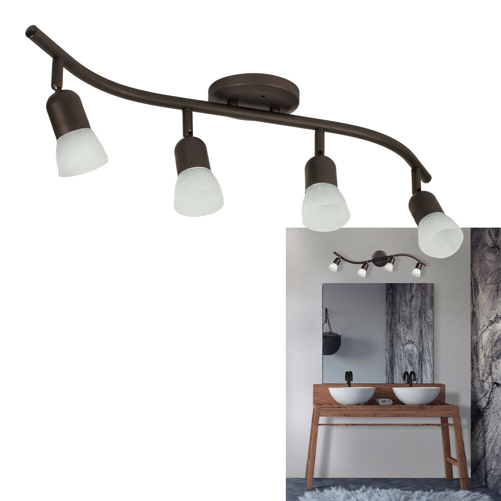 Celing Light Fixtures: 4 Light Track Lighting Ceiling Wall Interior Lamp Fixture