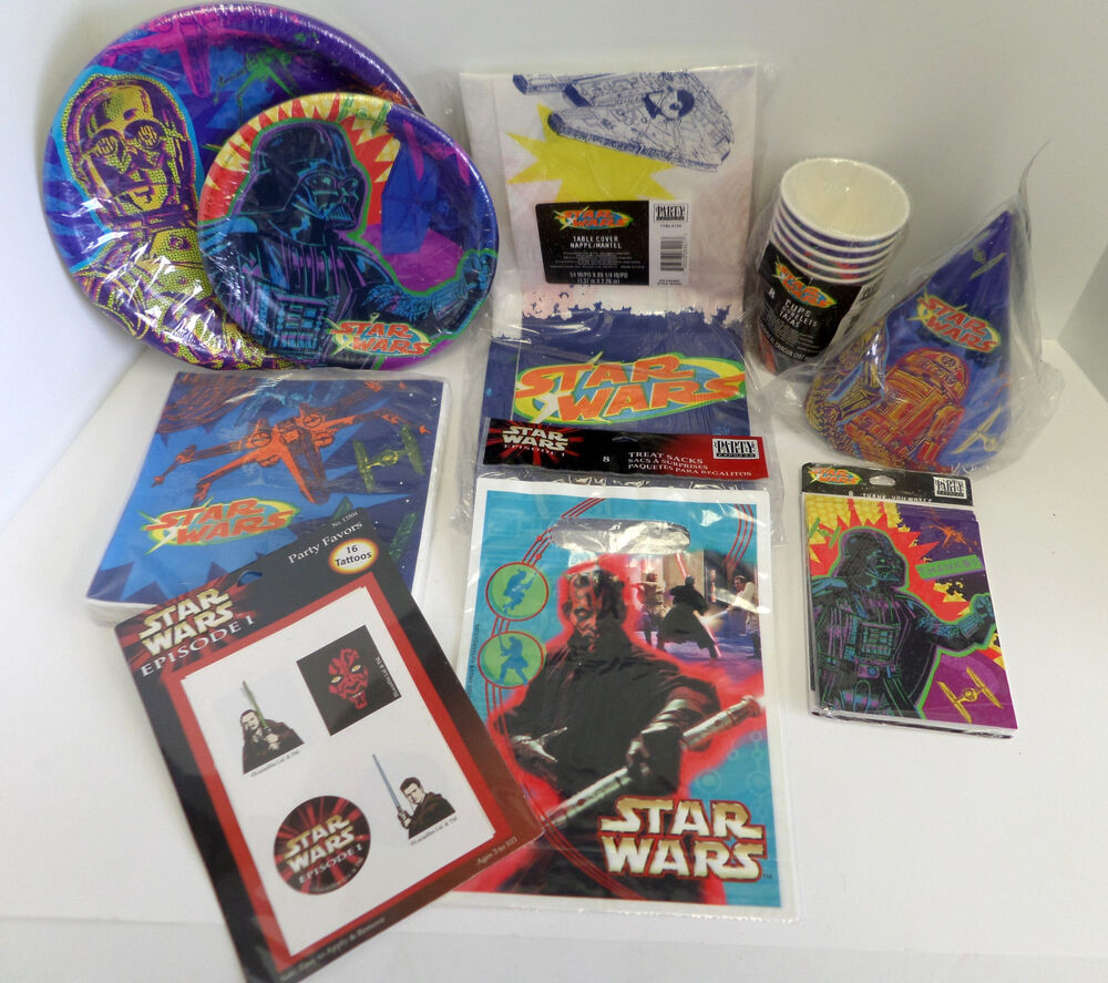 Star Wars Episode 1 Party Supplies Plates Napkins Favors Hats Treat Bags Amp More Ebay