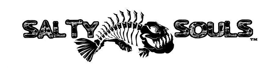 Salty Souls Angry Fish Skeleton Logo Sticker Decal Salt