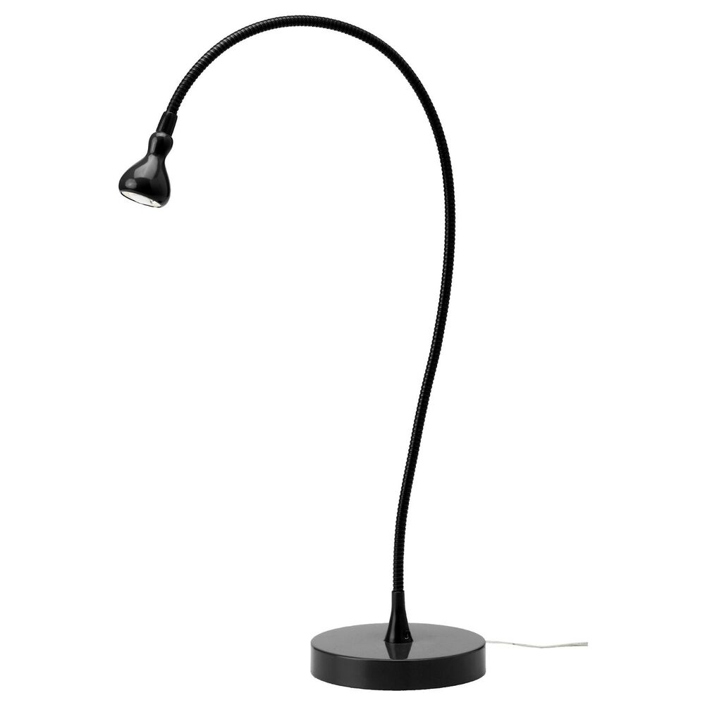 ikea jansjo bright led desk table work lamp flexible black goose neck 24 h new ebay. Black Bedroom Furniture Sets. Home Design Ideas