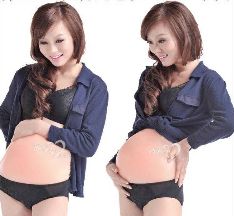 Details about  IVITA Silicone Artificial Baby Tummy Fake Pregnancy Belly Pregnant Bump Prop