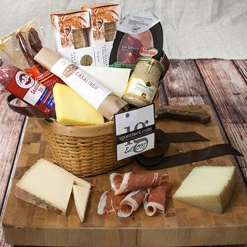Details about Connoisseur's Meat and Cheese Gift Basket (6 pound)