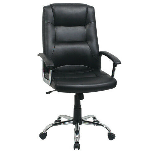 Berlin business leather faced swivel executive computer office chair in black ebay - Viking office desk ...