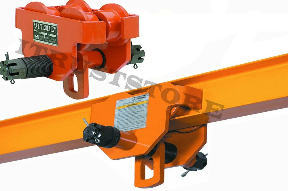 Ton steel i beam push track roller trolley for