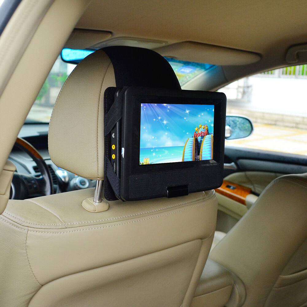 tfy car headrest mount for 10 inch swivel flip style. Black Bedroom Furniture Sets. Home Design Ideas
