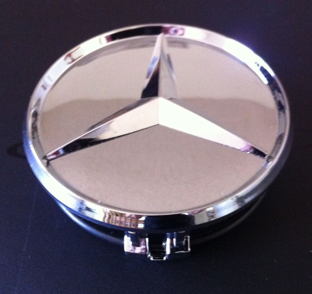 Mercedes benz chrome center star hub caps ebay for Mercedes benz hubcaps