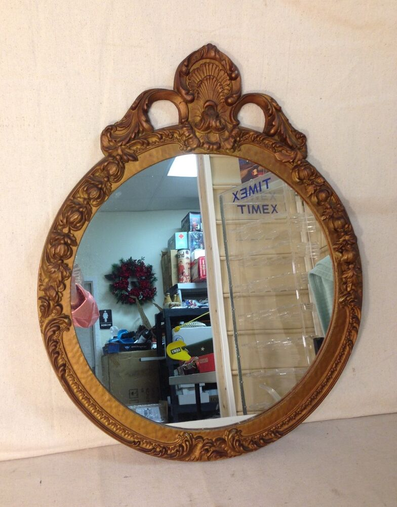 Antique Molded Round Mirror Early 1900 S Ebay