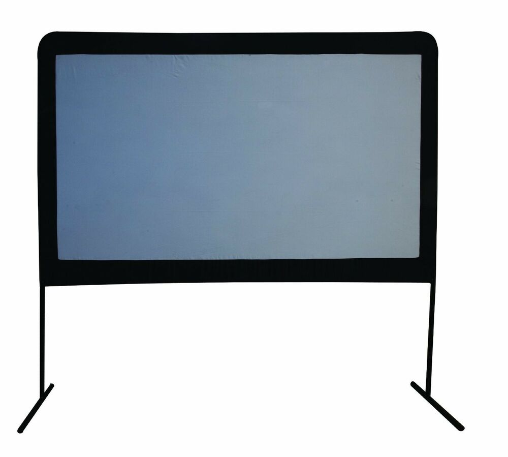 Large outdoor movie screen 120 portable home theater for Best portable projector for home theater