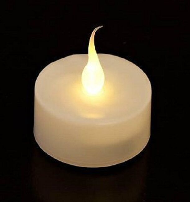 NEW FLAMELESS FLICKERING LED TEA LIGHT CANDLES BATTERY OPERATED TEALIGHTS : eBay