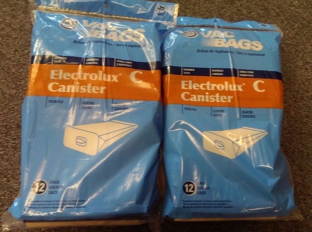 24 Bags For Electrolux Canister Vacuum Style C 4 Ply