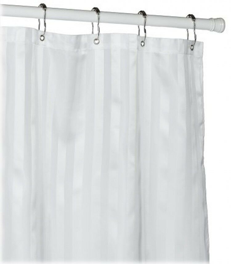 Croscill Fabric Shower Curtain Liner, White, New, Free