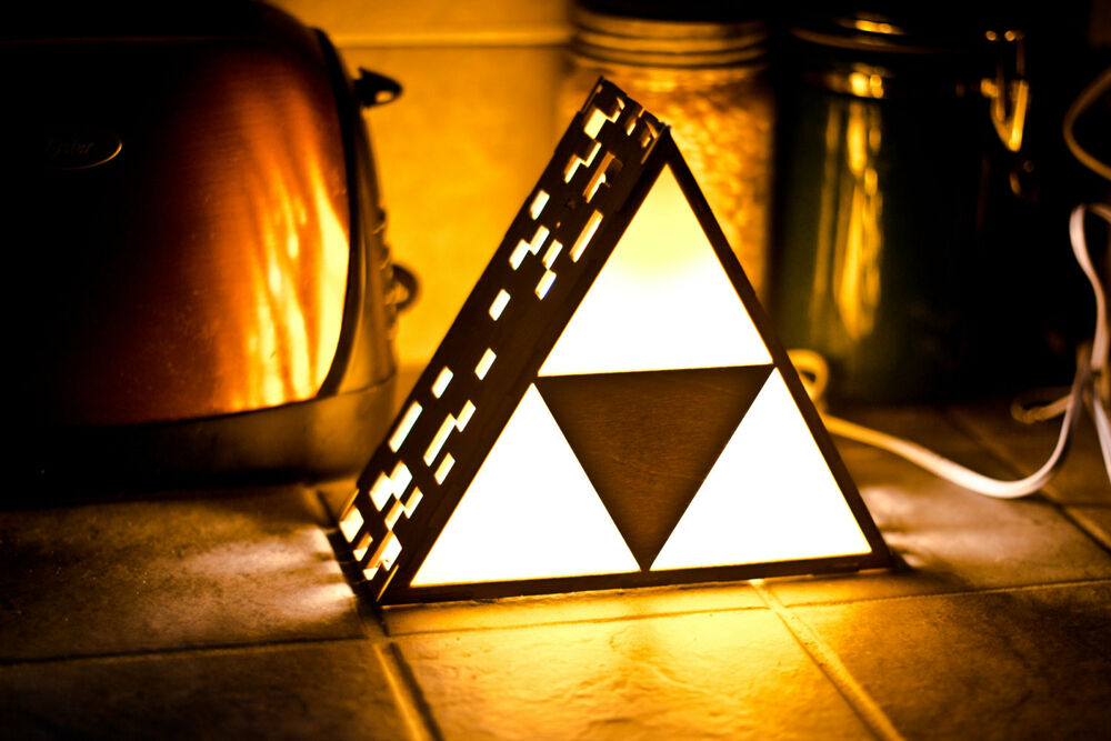 Zelda Triforce Lamp Mini Hanging Or End Table Ebay