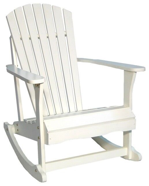 new outdoor indoor wood adirondack rocking chair porch patio yard garden furnitu ebay. Black Bedroom Furniture Sets. Home Design Ideas