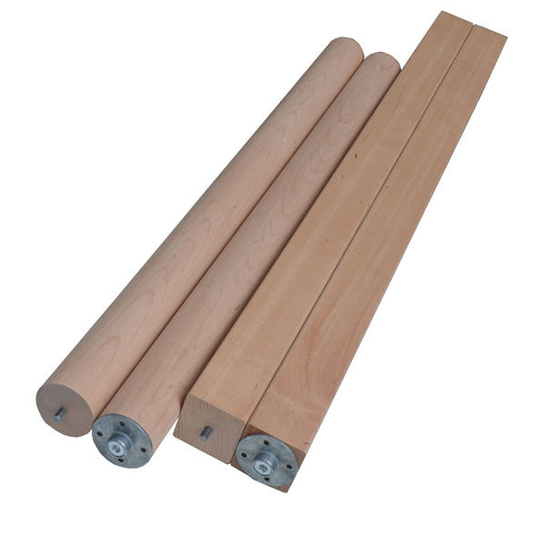 Table Mounting Plate : Solid beech breakfast bar worktop table support legs