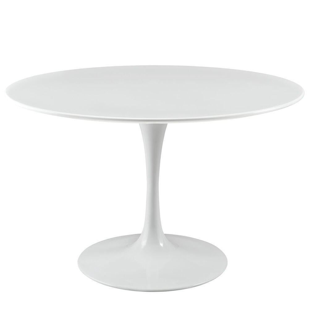 47 mid century modern white mcm fiberglass ssarinen tulip for New style dining table