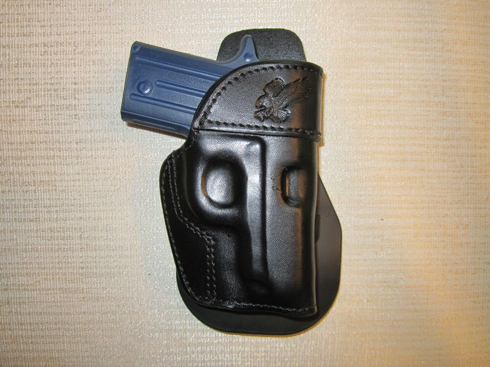 SIG SAUER P238, PADDLE HOLSTER,FORMED LEATHER OWB HOLSTER ...