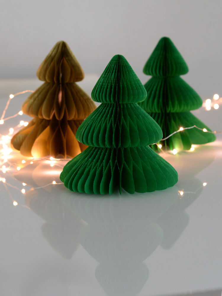 Christmas tree tissue paper honeycomb party
