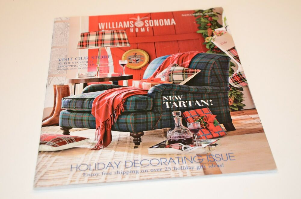 Home Interior Design Catalog Free: 2008 Williams Sonoma Home Decor Holiday Christmas Catalog