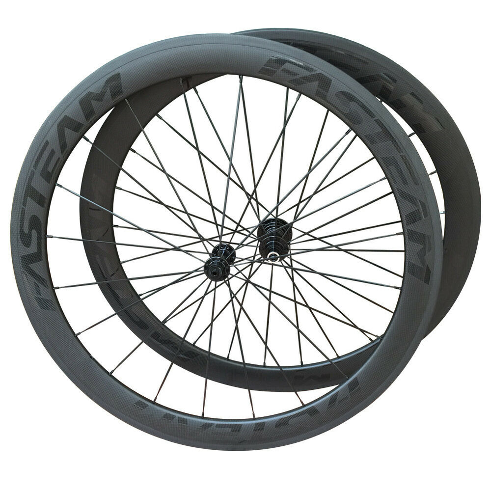 50mm carbon clincher wheel road bike wheelset racing for Bicycle rims