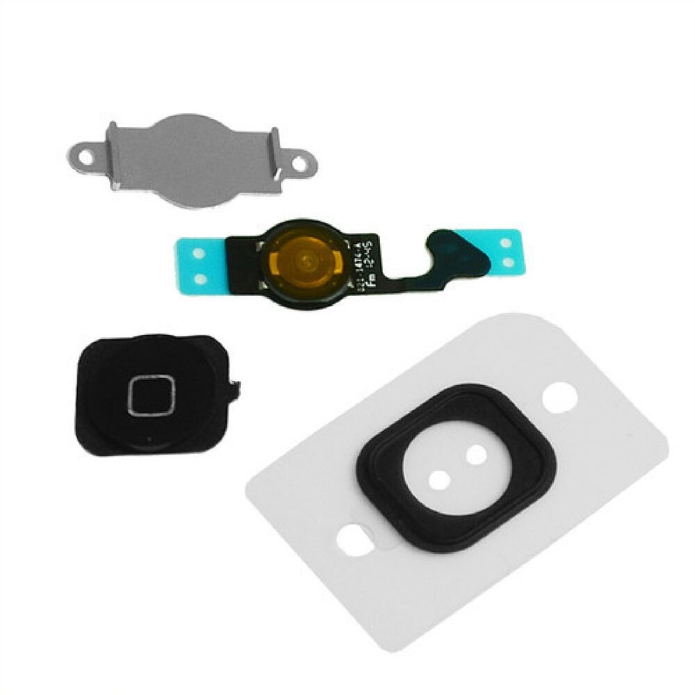 iphone 5 home button replacement new replacement black home button with flex cable seal 7366