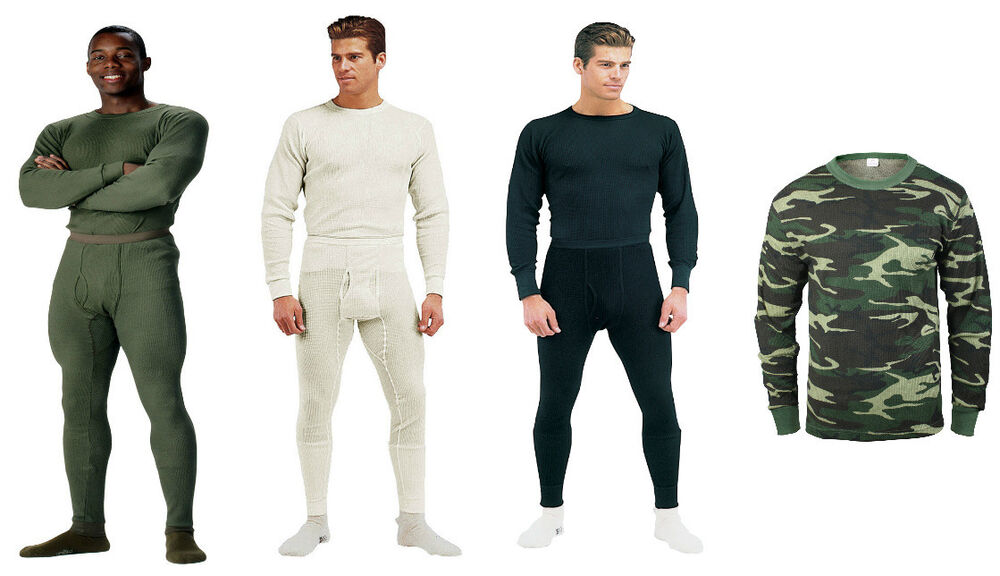 Long John Underwear Military Thermal Knit Cold Weather ...