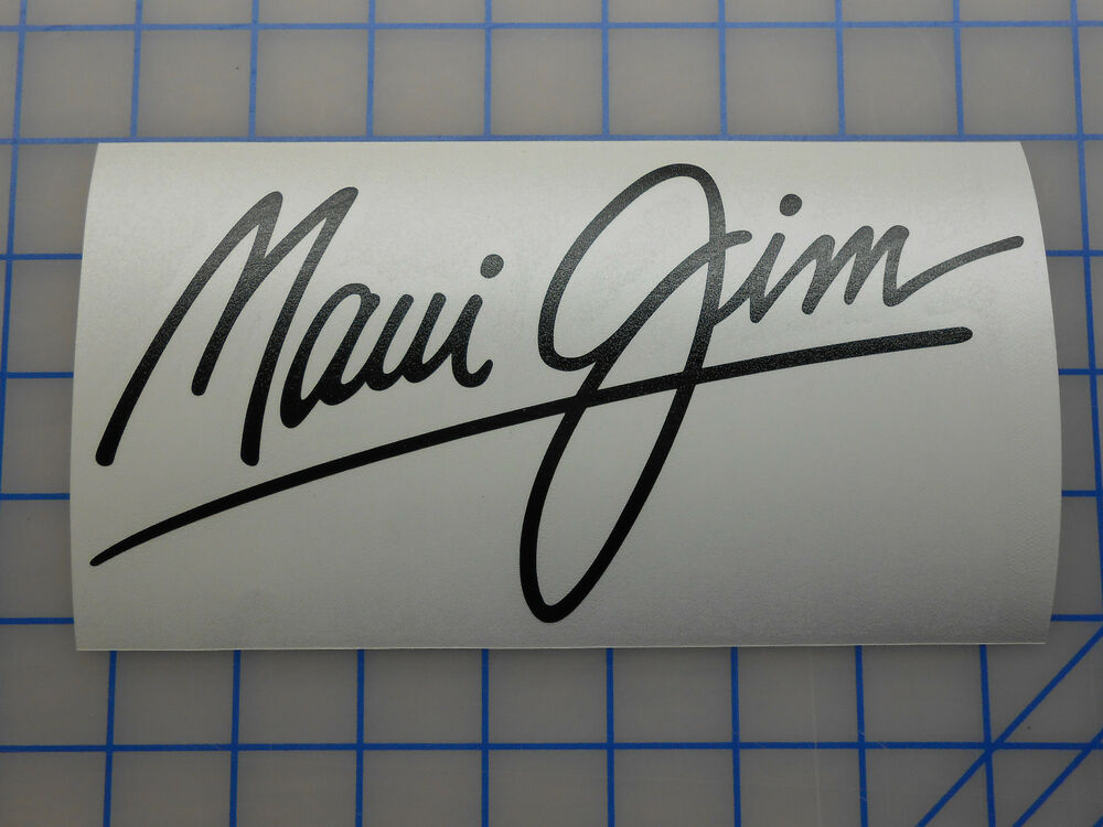 Maui Jim Decal Sticker 5 5 Quot 7 5 Quot 11 Quot Baby Beach Twin Falls
