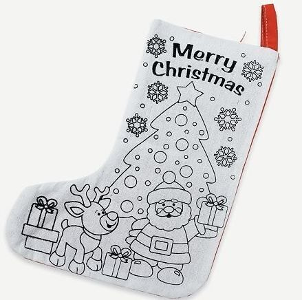 1 Color Your Own Christmas Stocking Craft Kids Gift Ebay