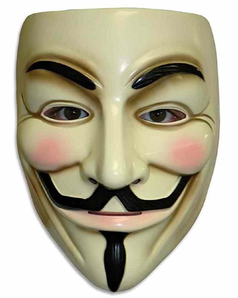 V For Vendetta Mask Anonymous Guy Fawkes Fancy Dress Adult