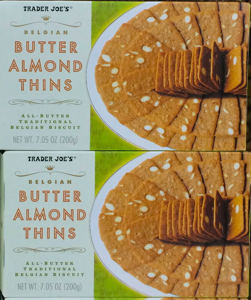 Premise Indicator Words: 2 Boxes Trader Joe's Butter Almond Thins Traditional