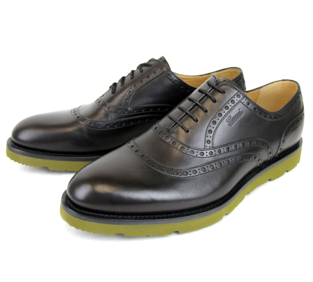 695 new authentic gucci mens leather dress shoes oxford w