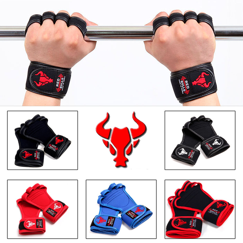 New Weight Lifting Gloves Bodybuilding Fitness Training Workout Gym Wrist Straps  Ebay-7585