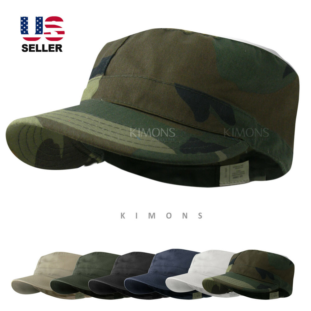 Bdu Fitted Army Cadet Military Patrol Castro Cap Hat
