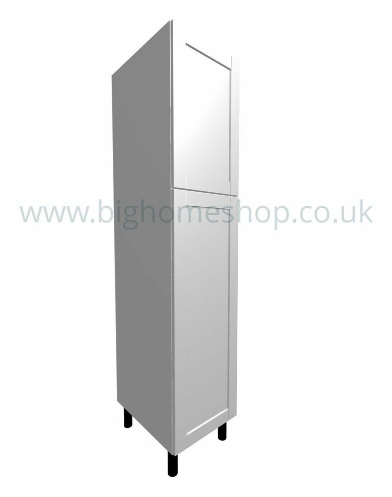 Fitted Kitchen Unit Housing And Larder Units With White Shaker Doors Ebay