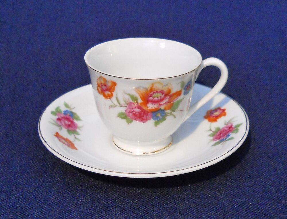 demitasse small cup saucer ceramic marked jyoto china made. Black Bedroom Furniture Sets. Home Design Ideas