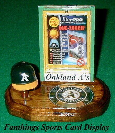 Oakland Athletics MLB Baseball Card Display Holder Helmet ...