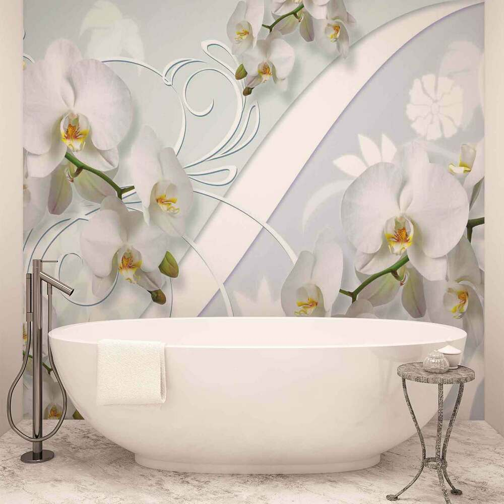 vlies fototapete fototapeten wandbild bild tapete 1206ve orchideen blumen ebay. Black Bedroom Furniture Sets. Home Design Ideas