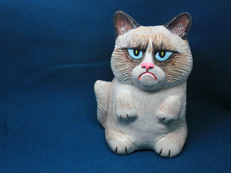 grumpy cat ceramic doll grumpycat gift 9gag decorative ...