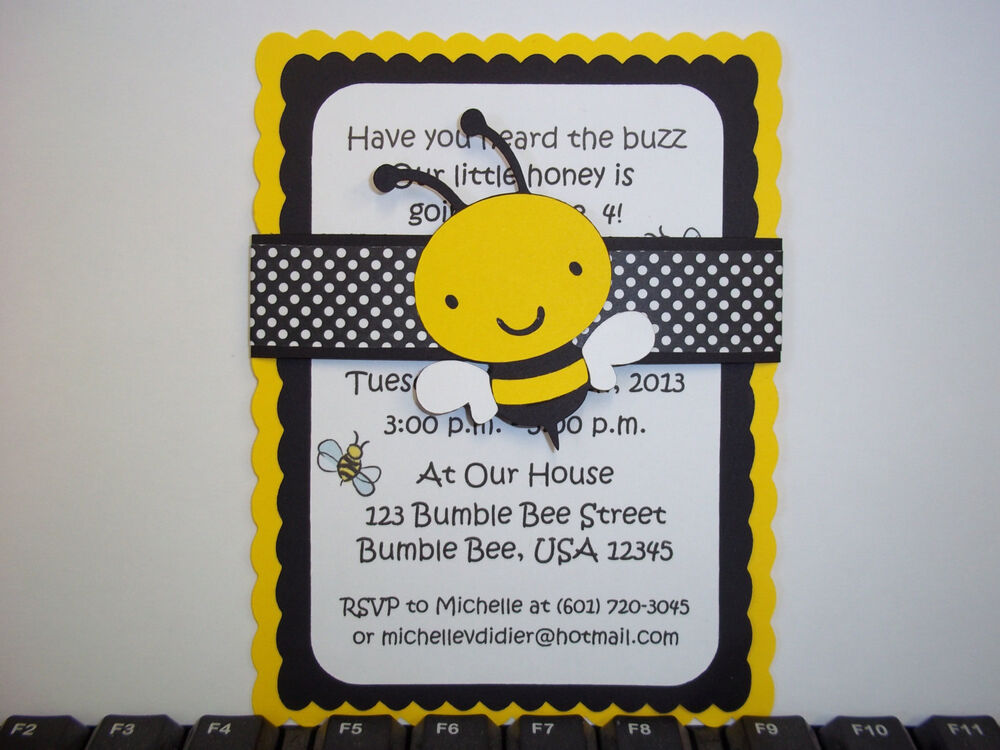 spelling bee invitation template - bumble bee invitations bee invitation bee baby ebay